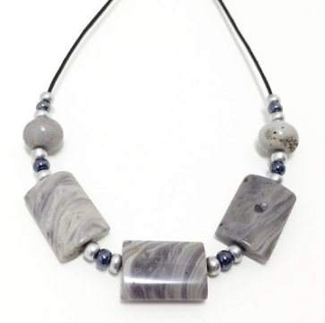 Michigan Kona Dolomite - Sliding Stone Necklace