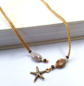 Ocean Jasper and Starfish Bookmark